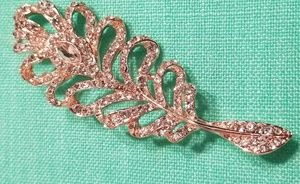 FEATHER FASHION DIAMOND BROOCH
